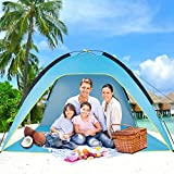 Sumerice Family Beach Tent and Sun Shade UV Cabana Shelter | Camping, Hiking