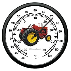 New Vintage 1953 Massey Harris Model 44 Tractor Wall Thermometer 10 Round