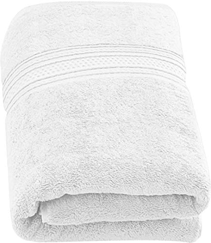 Utopia Towels - Luxurious Jumbo Bath Sheet (35 x 70 Inches, White) - 700 GSM 100% Ring Spun Cotton Highly Absorbent and Quick Dry Extra Large Bath Towel - Super Soft Hotel Quality Towel