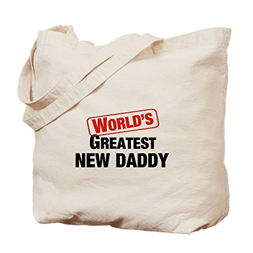 - CafePress World's Greatest New Daddy Natural Canvas Tote Bag, Cloth Shopping Bag