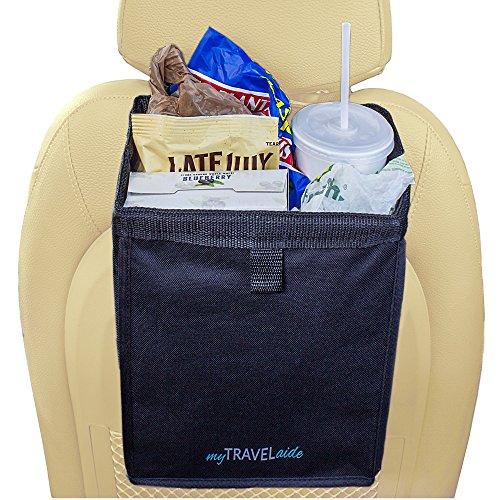 MyTravelAide Unique Car Trash Bag - Premium, Leakproof, Hanging Garbage Can for Vehicles