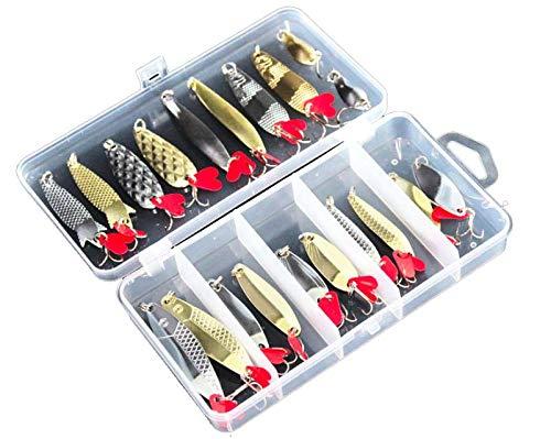 Fishing Lure Spoon Lures 20pcs, Metal Pieces 20pcs Zinc Alloy, Fish Lure Bright Pieces 20pcs