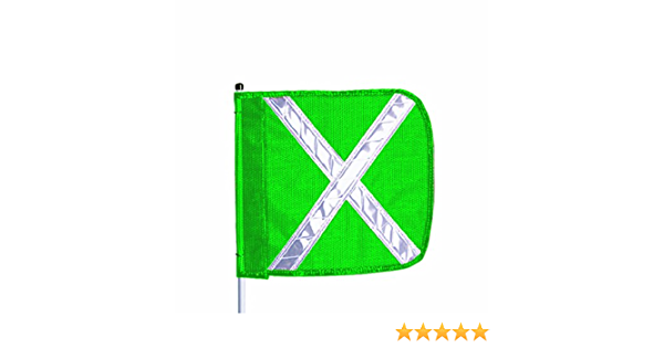 11 Overall Width 12 Overall Length Flagstaff FS8 Safety Flag Green Pack of 1 Threaded Hex Base