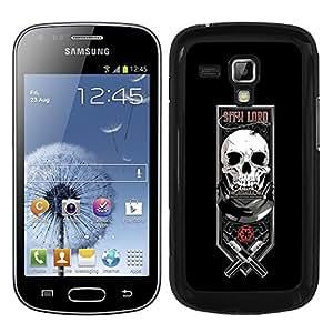 Funda carcasa para Samsung Galaxy S DUOS diseño lord fondo negro SW borde negro