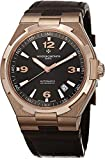 Vacheron Constantin Overseas Men's Brown Leather Strap Rose Gold Automatic Swiss Watch 47040/000R-9666