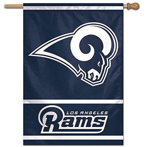 Flag Ram Dodge - Wincraft NFL Los Angeles Rams 28-by-40-Inch Vertical Flag, Team Color
