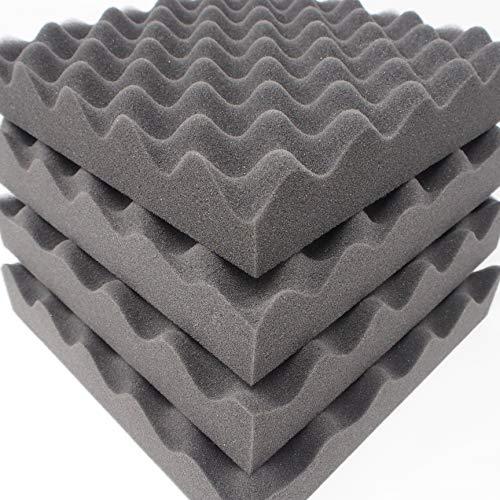 [해외]WhiteLeaf 극 두꺼운 흡 음 재 우 레 탄 스폰지 쿠션 쿠션 25cm×25cm 4 매 세트 (두께 5cm) / WhiteLeaf Extreme Thickness Sound Absorbing Material Urethane Sponge Cushion material 25cm × 25cm 4 pieces set (thickness 5cm)