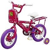 "John Deere 12"" Bicycle Pink"