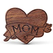 Finn + Emma Natural Wood Rattle Teether for Baby Boy or Girl – Heart Tattoo