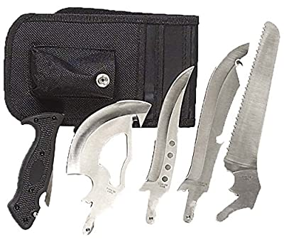 DIRK 4 In 1 Outdoorsman Blade / Knife Set With Belt Pouch: PK-70501