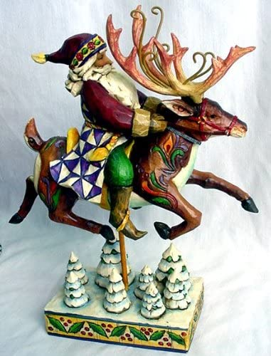 Jim Shore – Heartwood Creek – Santa On Reindeer by Enesco – 4002290