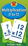 img - for Multiplication 0 to 12 Flash Cards (Brighter Child Flash Cards) book / textbook / text book