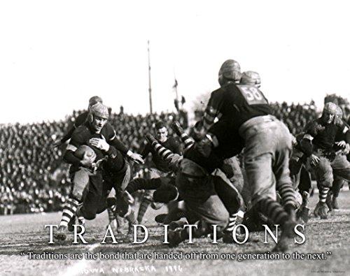 Nebraska Football Corn Huskers Football Motivational Poster Art Print Traditions 1916 Photo