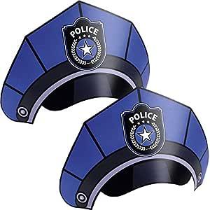 Niños Cumpleaños Police/Policía Sombreros de fiesta: Amazon ...