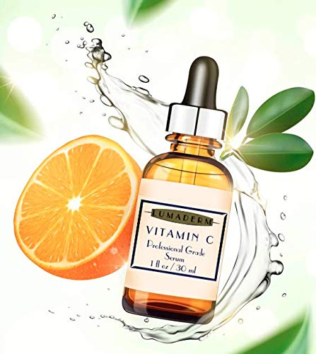 LumaDerm Professional Grade Vitamin C Serum + Hyaluronic Acid + Vit E: The Serum Backed by Science, Restore Youthful Plump Skin, Anti-Aging Prevention, Sourced from Natural Ingredients