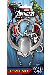 Amazon.com: Marvel Loki Helmet Pewter Key Ring: Toys & Games