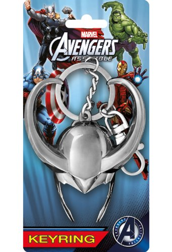Marvel Loki Helmet Pewter Key Ring (Loki Helmet For Sale)