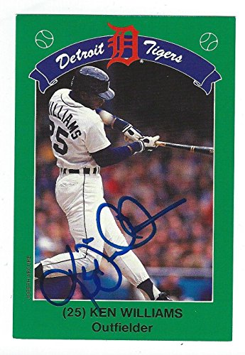 ken-williams-signed-detroit-tigers-1990-kroger-card-mlb-autographed-baseball-cards