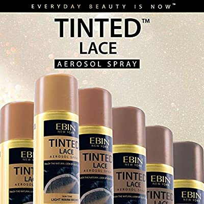 EBIN NEW YORK Tinted Lace Aerosol Spray – Medium Dark Brown