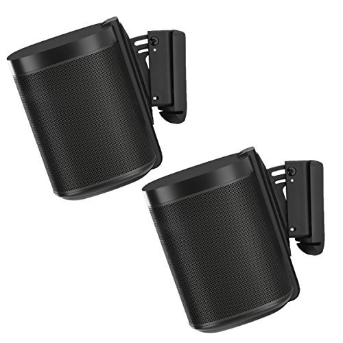 - Flexson Wall Mounts for Sonos One - Pair (Black)