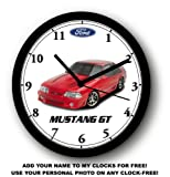 mustang car clock - 1987-1993 FORD MUSTANG GT WALL CLOCK-Free USA Ship-Choose 1 of 2