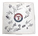 Texas Rangers 2012 Team Autographed Signed MacGregor Baseball Base Hamilton Kinsler Andrus