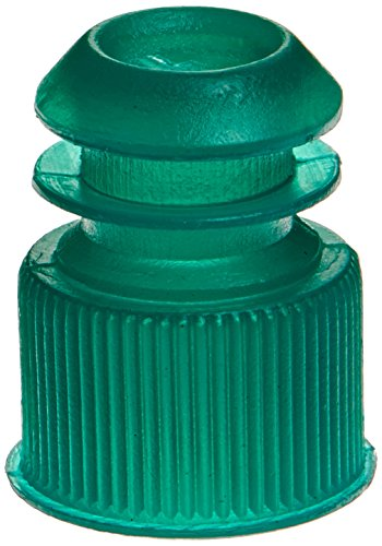 Globe Scientific 118240G Polyethylene Flange Plug Cap for Test Tubes, 13mm Size, Green (Pack of 1000)
