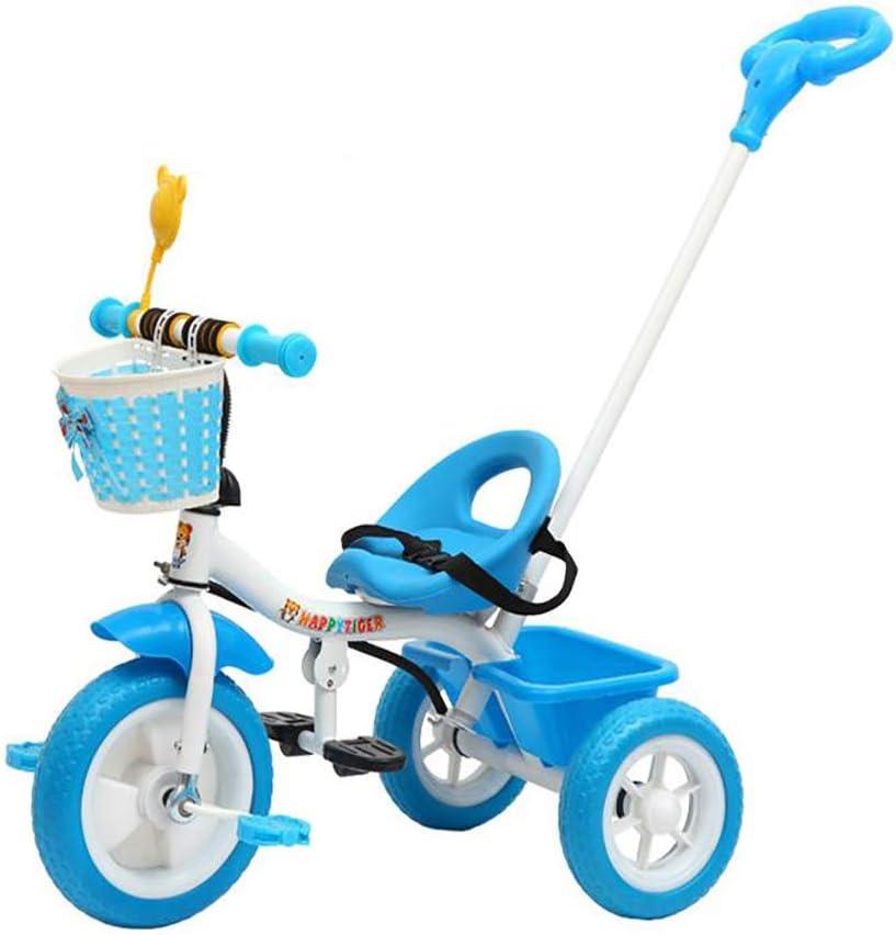 Aocean Triciclo Bicicletta Bambini,Triciclo Evolutivo Trike para Niños +18 Meses con Extraíble Plegable Pedales Barra Telescópica para Padres Triciclo de Empuje