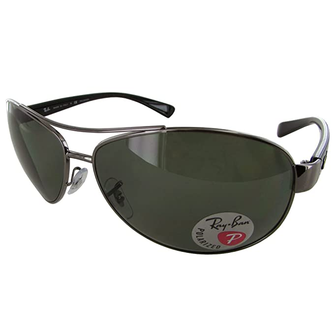 9ec2a62776 Ray-Ban Men s Polarized Active RB3386-004 9A-63 Gunmetal Aviator Sunglasses