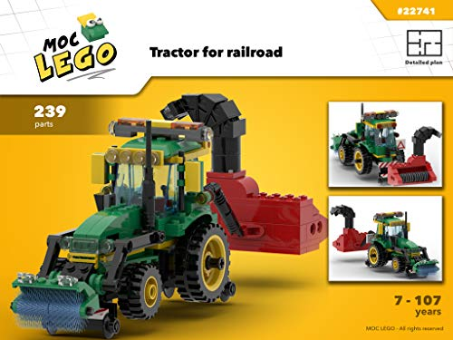 Tractor Train Snowblower (Instruction Only): MOC LEGO por Bryan Paquette
