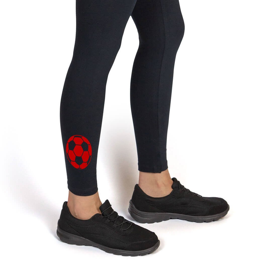Soccer Ball Leggings | Soccer Leggings by ChalkTalk SPORTS | Multiple Colors | Youth To Adult Sizes sc-02270