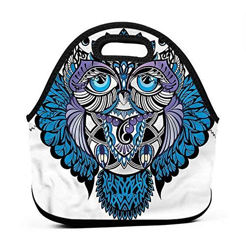 (for Womens Mens Boys Girls Tribal,Owl Bird Animal Tattoo,ohio state lunch bag for)