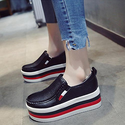 Shoes Of KHSKX Increased Female The Shoes Pine Shoes 37 Thick Shoes Bones Cake Single The Version Wild Korean Autumn Lazy w8wpqCnO