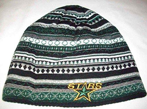 NHL Reebok Fashion Reversible Knit Hat / Beanie - Dallas Stars