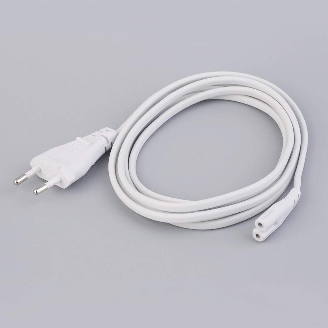 1Pc 2M Volex EU European 2-Prong Port AC Power Cord Cable For Mac Mini Router for Apple TV For PS2 For PS3 Slim Power Cable