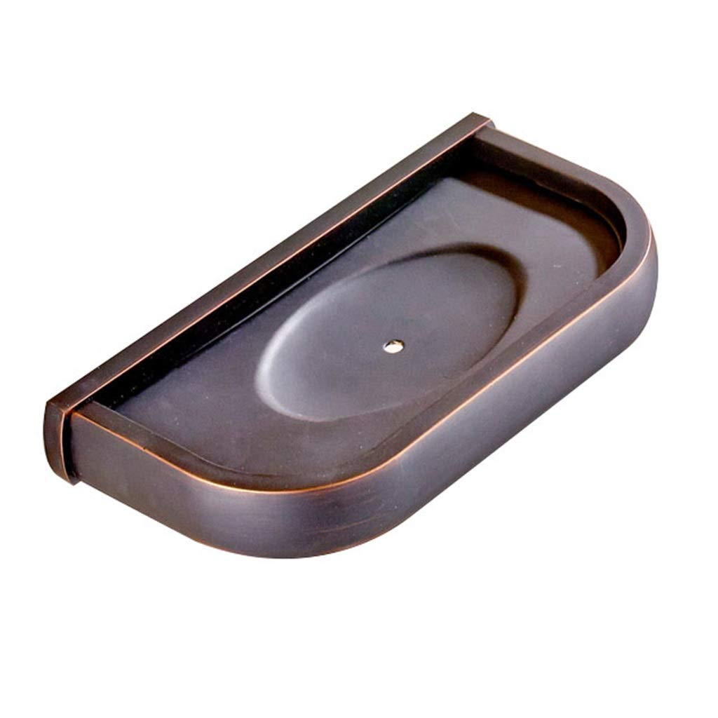 ZHJ-shelf Black Copper Soap Holder for Bathroom Wall Hanging Soap Dish