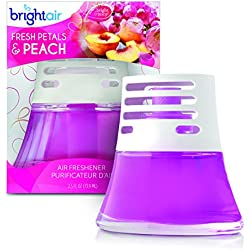 Bright Air Scented Oil Air Freshener and Diffuser, Fresh Petals and Peach, 2.5 Ounces