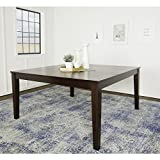 WE Furniture 60'' Square Espresso Wood Dining Table