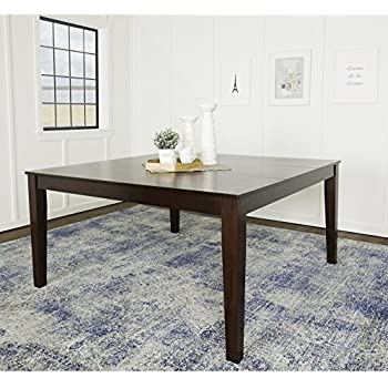Amazon we furniture 60 square espresso wood dining table tables we furniture 60 square espresso wood dining table watchthetrailerfo