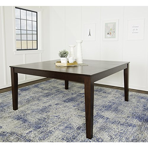 We furniture 60 square espresso wood dining table for Basic dining table
