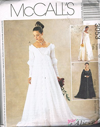 Mccalls Bridesmaid Patterns - McCall's 3053 Bridal Gown, Wedding Gown, Bridesmaid Dress Sewing Pattern Misses Size 8-10-12