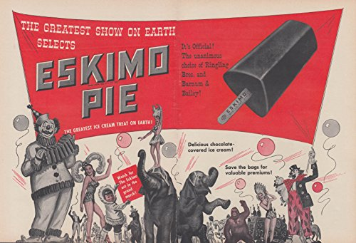 Ringling Bros Barnum & Bailey Circus for Eskimo Pie Ice Cream Treat 1956