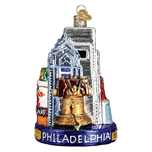 Old World Christmas Glass Blown Ornament with S-Hook and Gift Box, Location Collection (Philadelphia) -