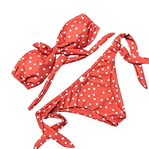 Donna vita due push up lovers alta pezzi brasiliano bikini intero Bagno Costume stampato da sexy Set Landfox due donna Bikini Dot mare costumi mare pezzi Beachwear YxfPZRnqw
