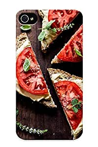 Top Quality Case Cover For Iphone 4/4s Case With Nice Delicious Hummus Sandwich Appearance Kimberly Kurzendoerfer