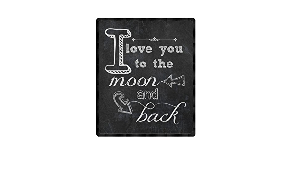 Romantic Valentine S Day Gift I Love You Quotes Blanket I Love You To The Moon And Back Soft Fleece Travel Blankets Throws 50 By 60 Inch Home Kitchen
