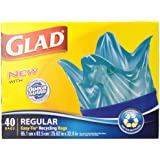 Glad Easy-Tie Regular Recycling Blue Bags 75 L 40 Count