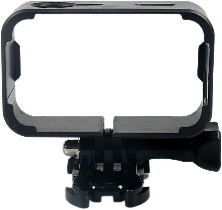 kingwon cámara Border Mount Plástico Lateral Marco Protector Caso de Vivienda Accesorios para Xiaomi mijia 4K Mini cámara de acción, con Vaso y Tornillo Negro