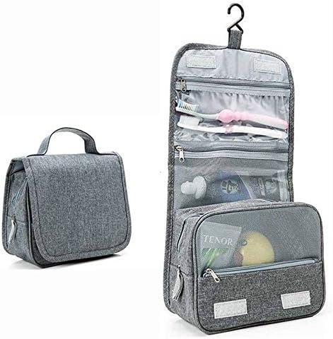 化粧品袋 パターンZIP形式オーガナイザー収納ポーチ女性の女の子と大小メイクアップバッグ化粧ケーストイレタリーバッグバニティケース 旅行化粧収納ボックス (Color : Gray)