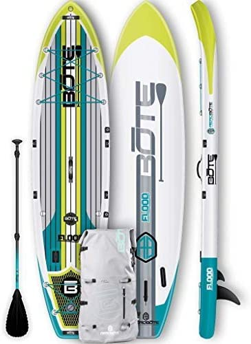 BOTE Flood Aero Inflatable Stand Up Paddle Board, SUP with Accessories Pump, Paddle, Fin, Travel Bag